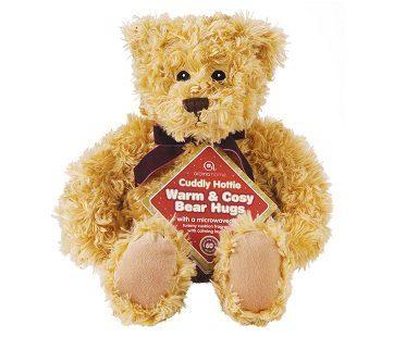 microwavable teddy bear heated