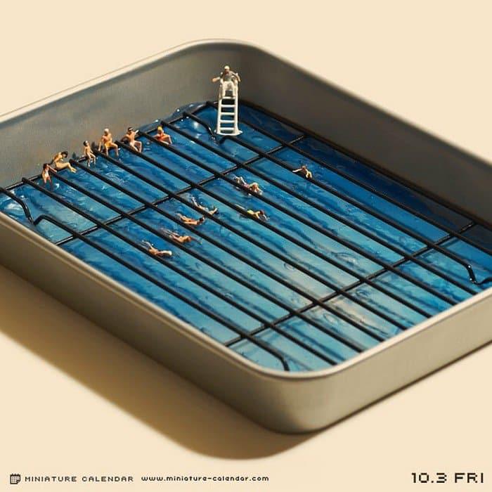 mini swimmers tray