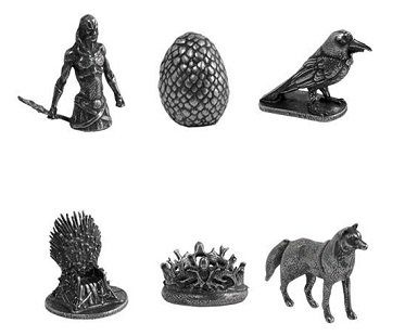 monopoly game of thrones edition pieces