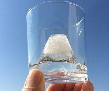 mount fuji ice mold glass