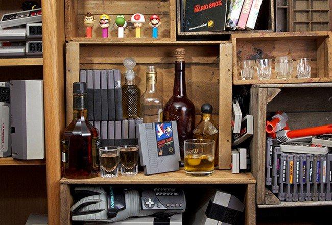 nintendo drinks cartridges shelf