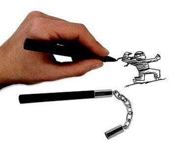 nunchuck pens