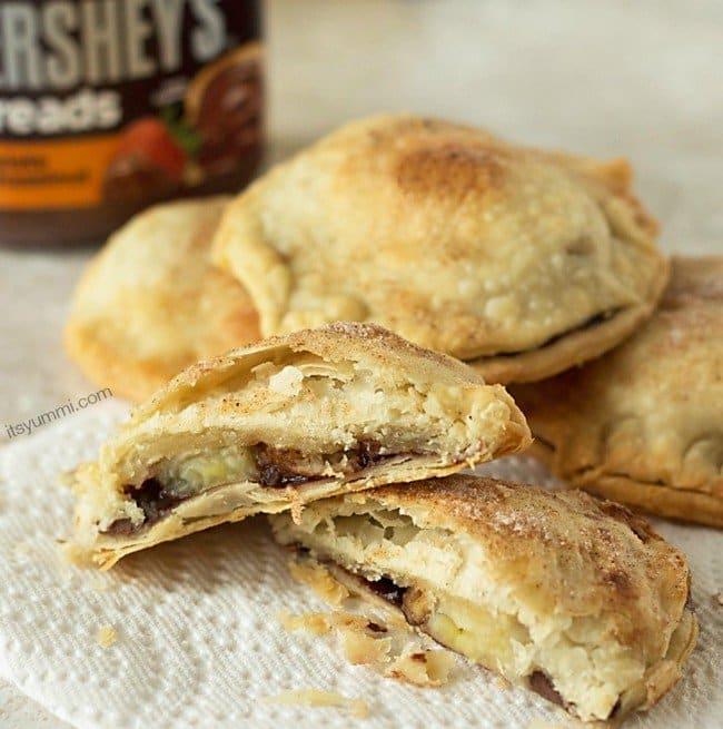 nut choc banana hand pies