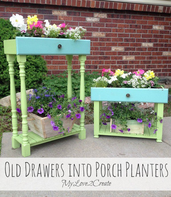 old drawers planters