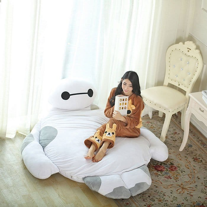onesie girl baymax bed
