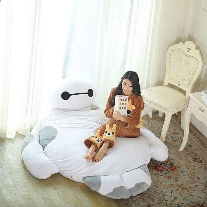 onesie girl baymax bed