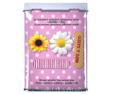 oops a daisy plasters tin back