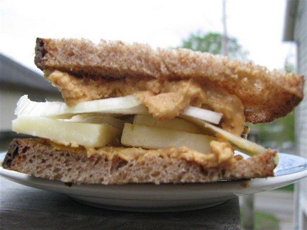 peanut butter cheese sandwich