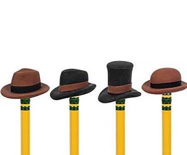 pencil eraser hats rubber