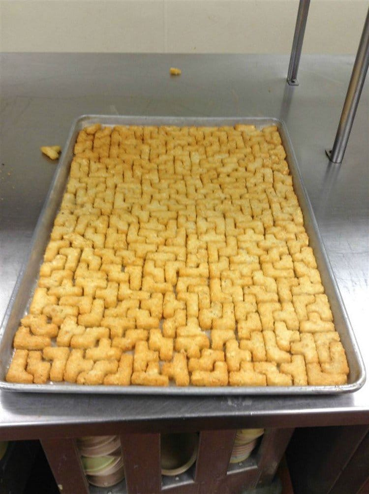 perfectly fitting tater tots