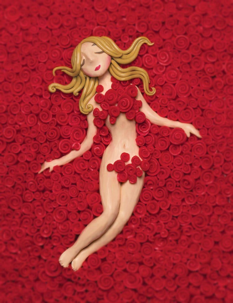 plasticine rose girl