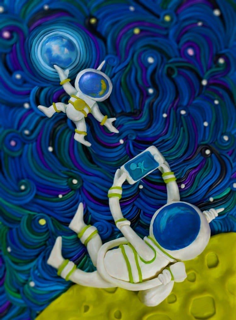 plasticine spaceman