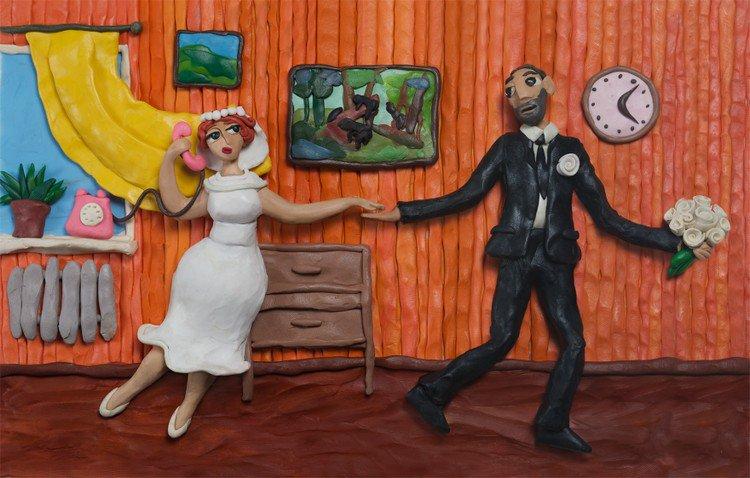 plasticine wedding couple