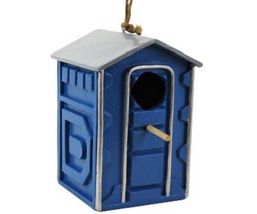 portable toilet birdhouse