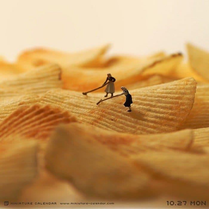 potato chip mini figures