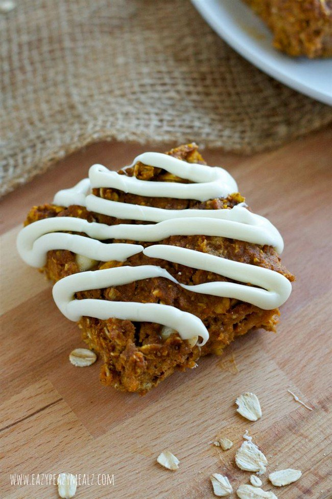 pumpkin baked oatmeal squares