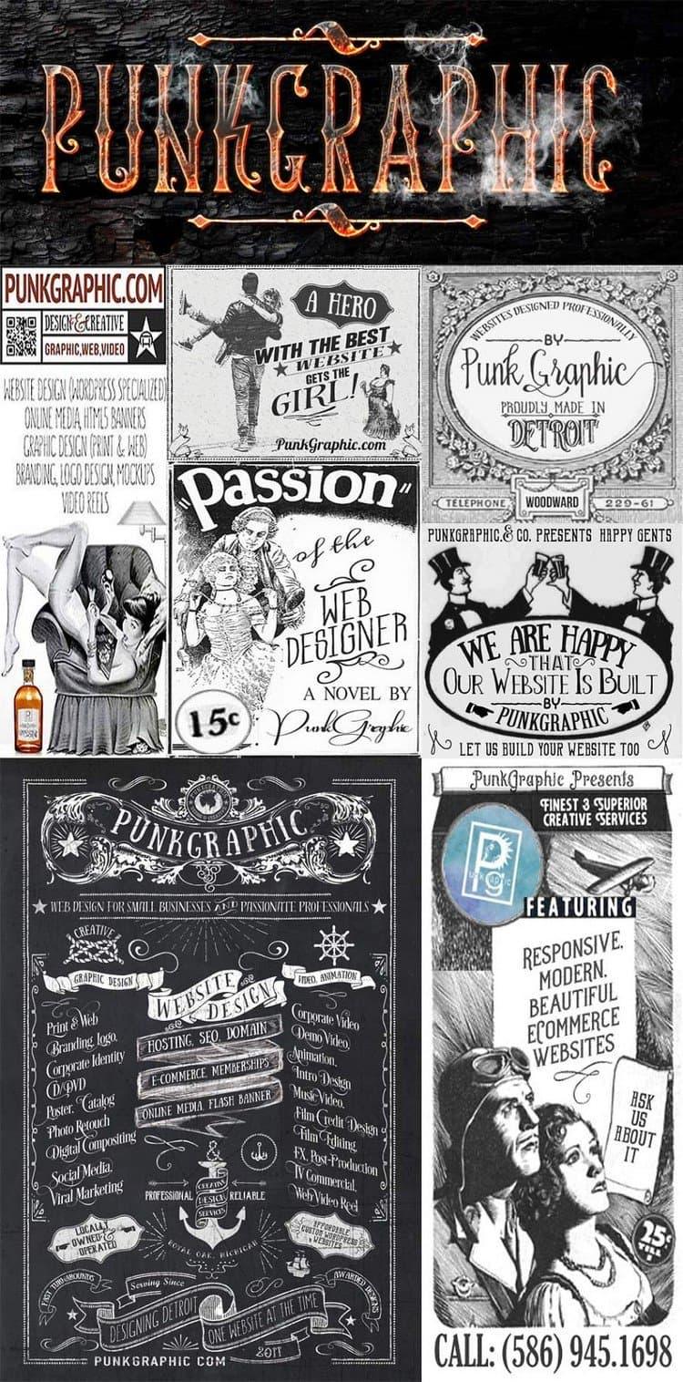 punkgraphic ads