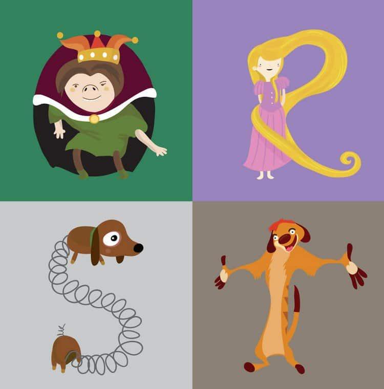 q to t illustrated alphabet da luz