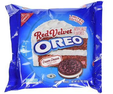 red velvet oreos pack