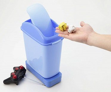 remote control trash can bin