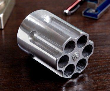 revolver chamber pen holder desk