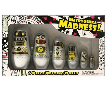 robot nesting dolls box