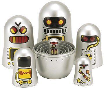 robot nesting dolls set