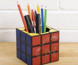 rubik's cube pen holder