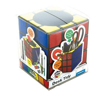 rubik's cube pen holder box