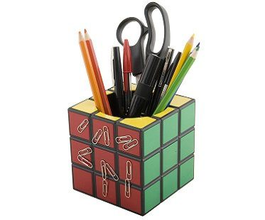 rubik's cube pen holder pencils