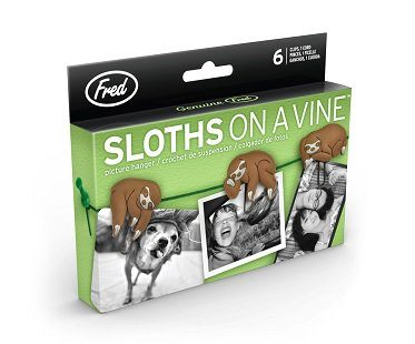 sloth clip picture hangers set