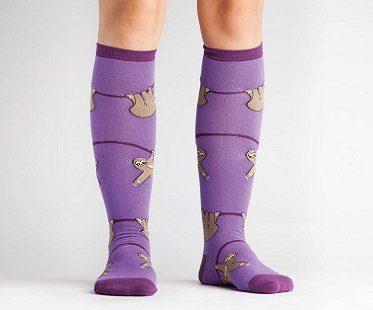 sloth socks knee high