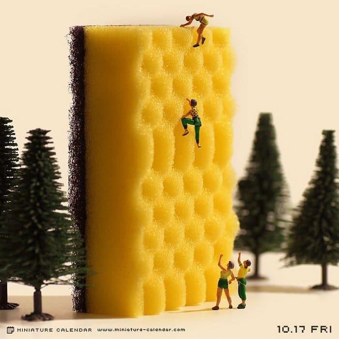 sponge mini rock climbers