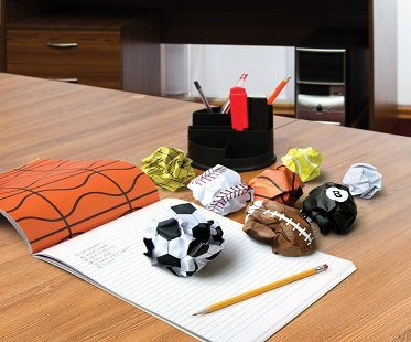 sports balls notepad
