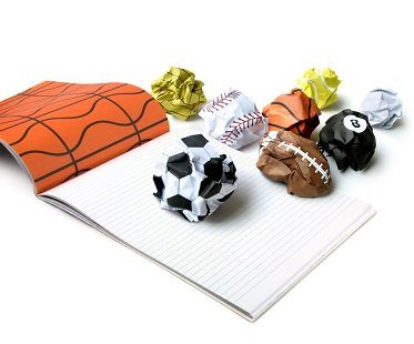 sports balls notepad scribble dribble