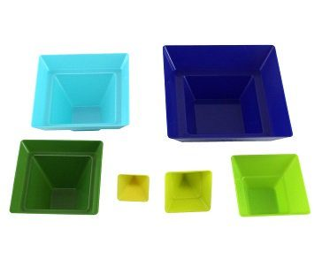 stackable pyramid measuring cups colours