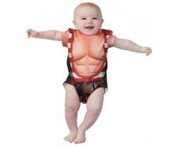 strongman baby onesie