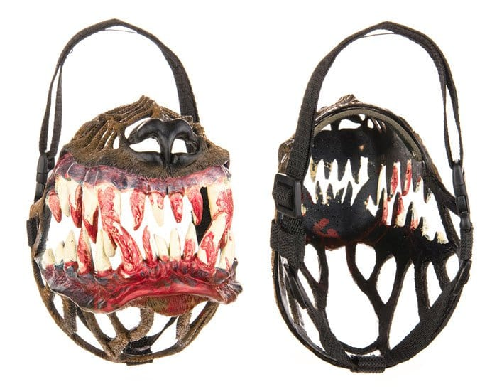 terrifying dog muzzle pair
