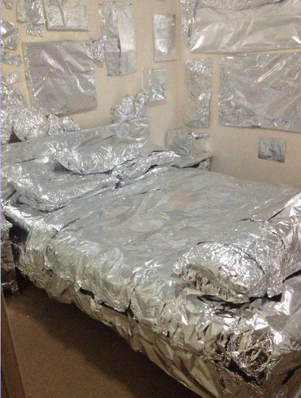tinfoil bedroom