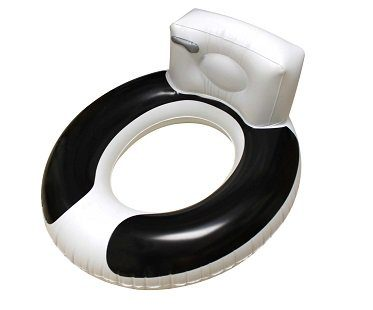 toilet seat pool float inflatable