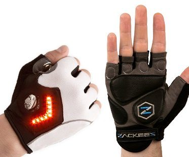 turn signal bike gloves LED