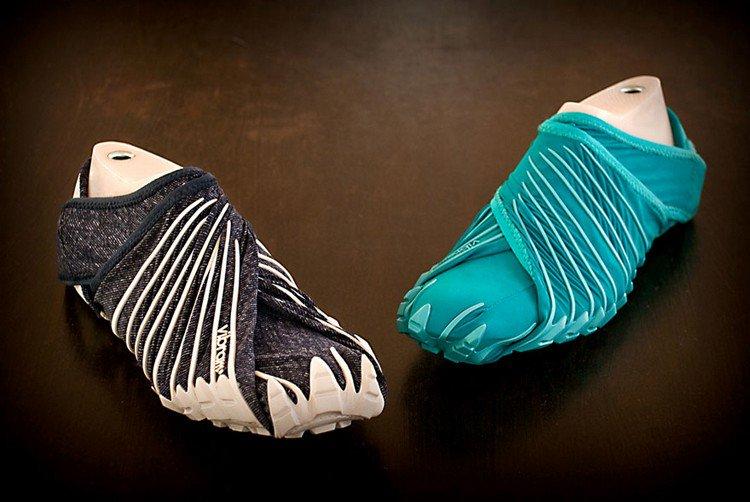 two furoshiki shoes