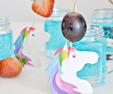 unicorn party picks grape