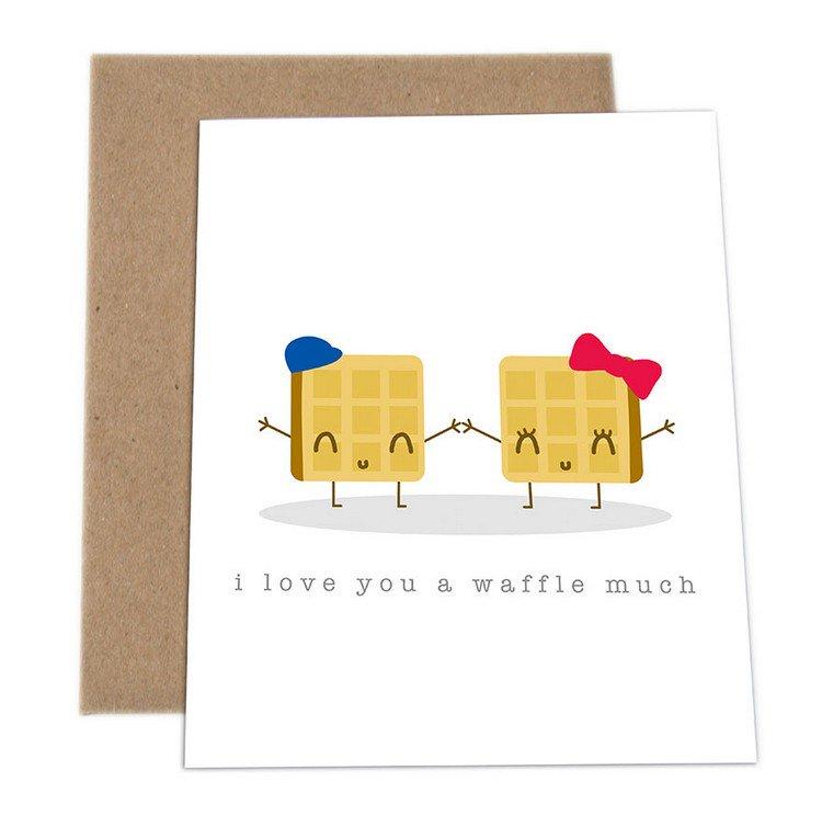 waffle love card