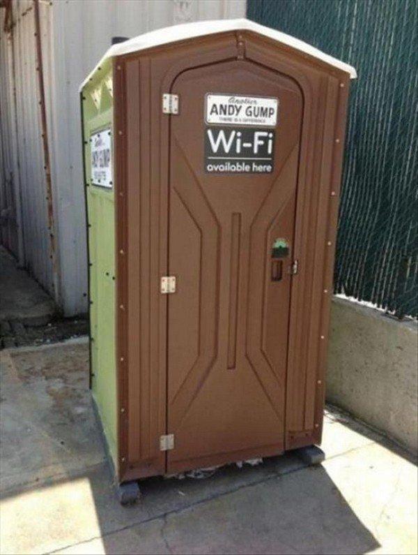 wifi porta toilet