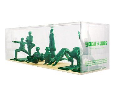 yoga posing green army men box