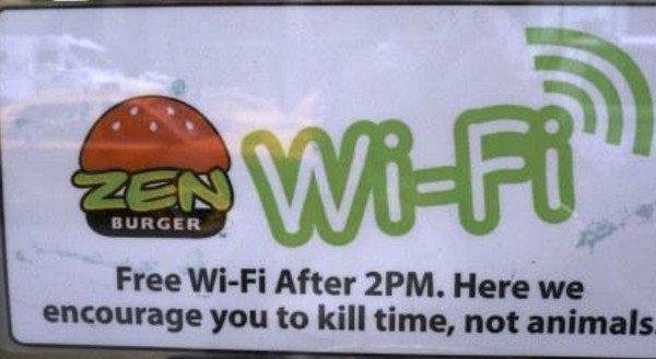 zen burger wifi