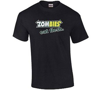 zombies eat flesh t-shirt black