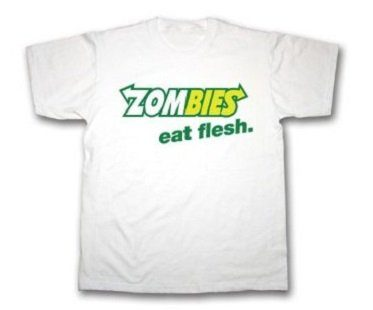zombies eat flesh t-shirt white