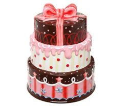 3 layer cake cookie jar